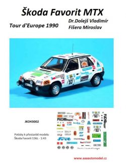 Škoda Favorit MTX Tour d'Europe No.53 Sew